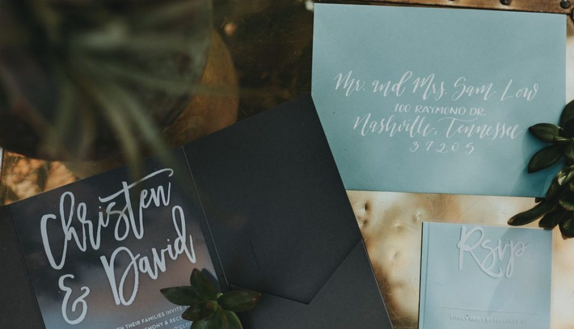 clear and navy save the date